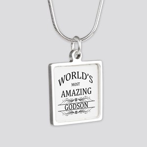 World's Most Amazing Godso Silver Square Necklace