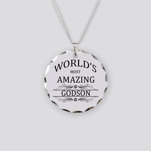 World's Most Amazing Godson Necklace Circle Charm