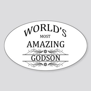 World's Most Amazing Godson Sticker (Oval)