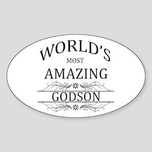 World's Most Amazing Godson Sticker (Oval)