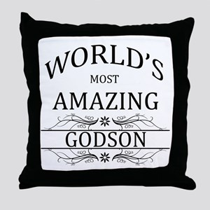 World's Most Amazing Godson Throw Pillow