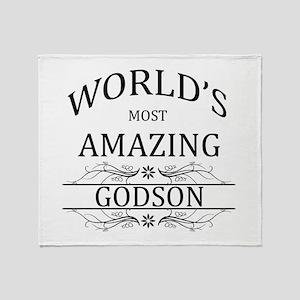 World's Most Amazing Godson Throw Blanket