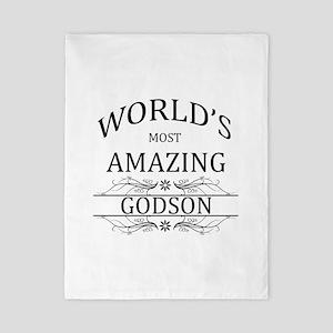 World's Most Amazing Godson Twin Duvet