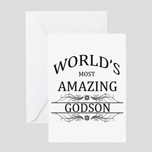Worlds Most Amazing Godson Greeting Card