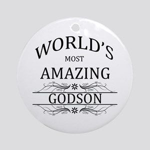 World's Most Amazing Godson Ornament (Round)
