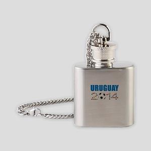 Uruguay soccer futbol Flask Necklace