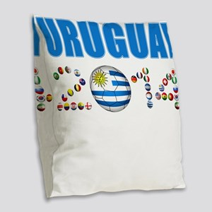 Uruguay soccer futbol Burlap Throw Pillow