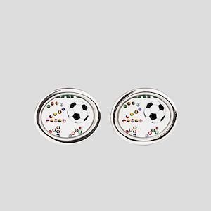 México futbol soccer Oval Cufflinks