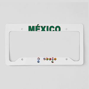 México futbol soccer License Plate Holder