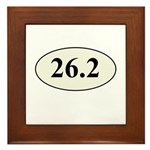 Marathon Runner 26.2 Framed Tile