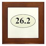 Marathon Runner 26.2 Framed Tile