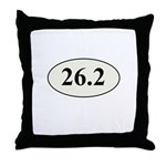 Marathon Runner 26.2 Throw Pillow