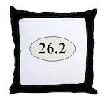 Marathon Runner 26.2 Throw Pillow