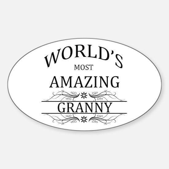 World's Most Amazing Granny Sticker (Oval)