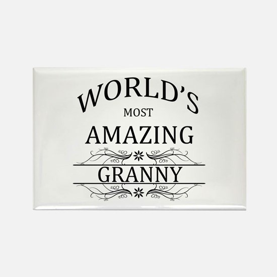 World's Most Amazing Granny Rectangle Magnet