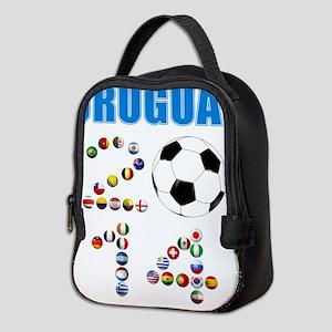 Uruguay soccer futbol Neoprene Lunch Bag