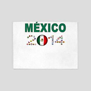 México futbol soccer 5'x7'Area Rug
