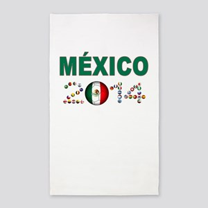 México futbol soccer 3'x5' Area Rug