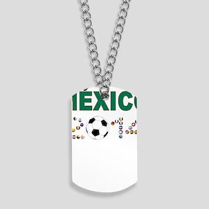 México futbol soccer Dog Tags