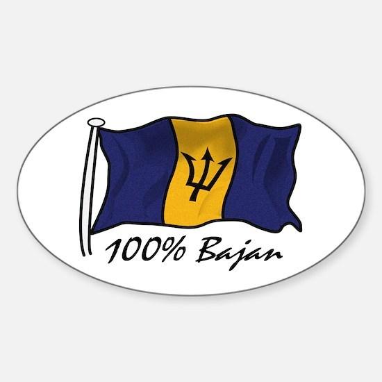 100% Bajan Oval Decal