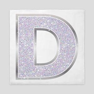 Sparkle Letter D Queen Duvet