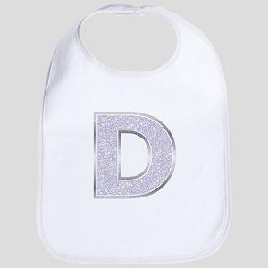 Sparkle Letter D Bib