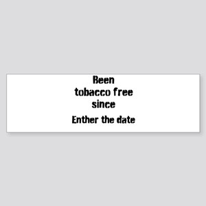 tobacco free Bumper Sticker