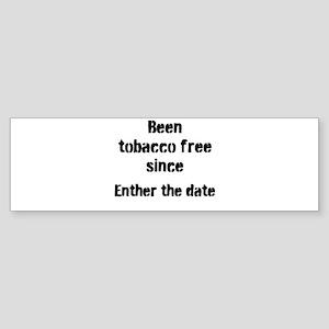 tobacco free Bumper Sticker
