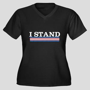 I Stand Women's Plus Size V-Neck Dark T-Shirt