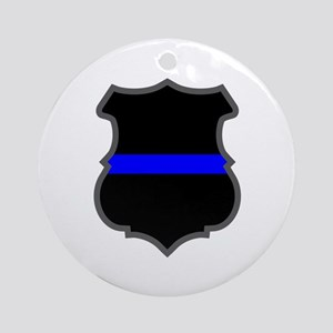 Blue Line Badge 1 Ornament (Round)