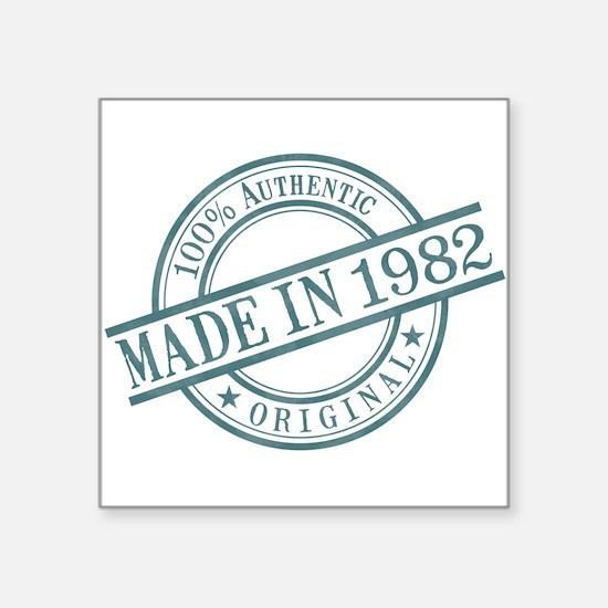 "Made in 1982 Square Sticker 3"" x 3"""