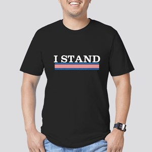 I Stand Men's Fitted T-Shirt (dark)