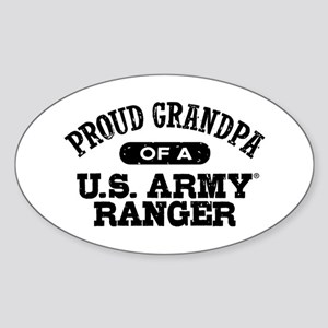 Army Ranger Grandpa Sticker (Oval)