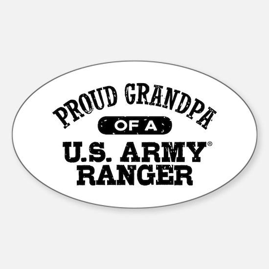 Army Ranger Grandpa Sticker (Oval)