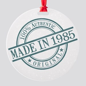 Made in 1985 Round Ornament