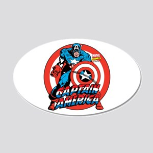 Captain America 20x12 Oval Wall Decal