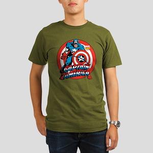 Captain America Organic Men's T-Shirt (dark)