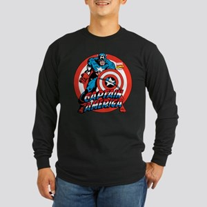 Captain America Long Sleeve Dark T-Shirt