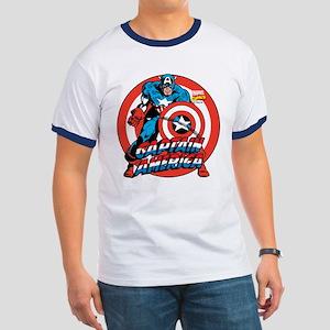Captain America Ringer T