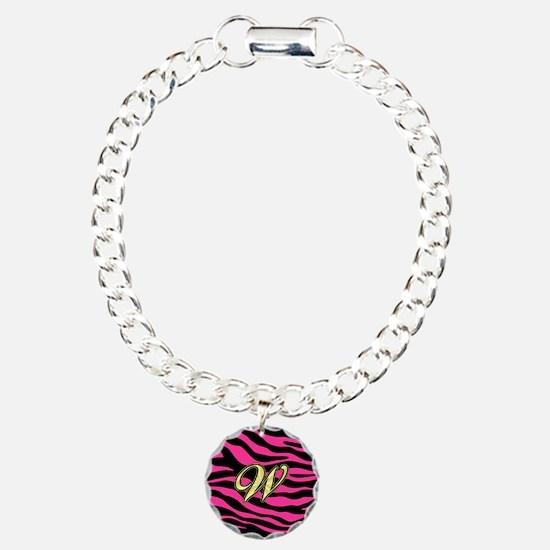 HOT PINK ZEBRA GOLD W Bracelet