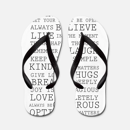 Positive Thoughts Flip Flops