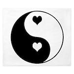 Love Zen Yin Yang King Duvet
