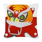 My Dragon Woven Throw Pillow