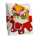 My Dragon Burlap Throw Pillow