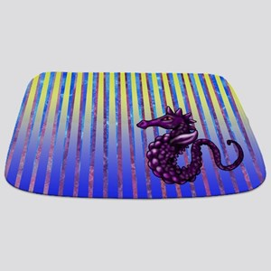 Purple Seahorse Bathmat