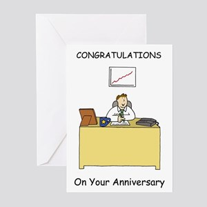 Work anniversary congratulations fo Greeting Cards