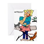 Busy Mom Greeting Cards