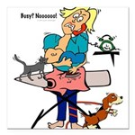 Busy Mom Square Car Magnet 3