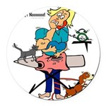 Busy Mom Round Car Magnet