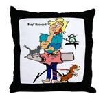 Busy Mom Throw Pillow